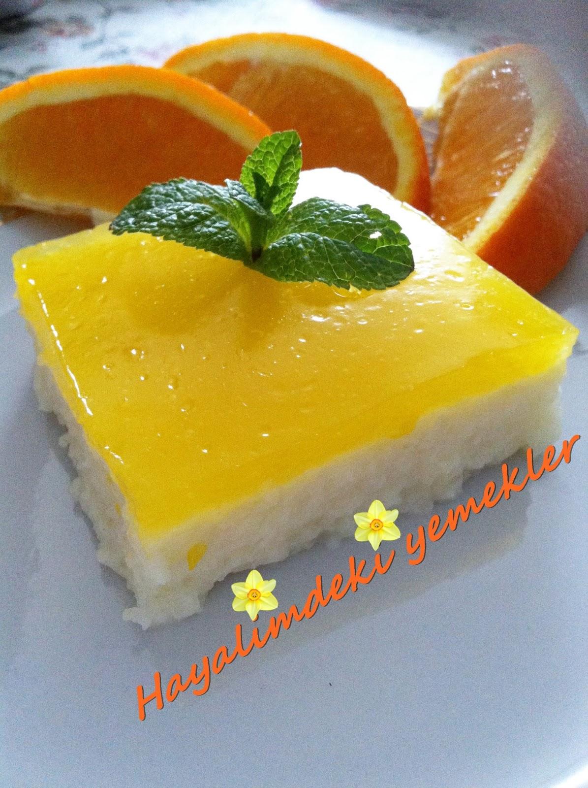 Portakallı Muhallebi Tarifi 92