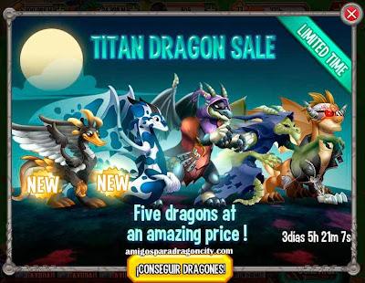 imagen de la oferta de los dragones titanes d dragon city