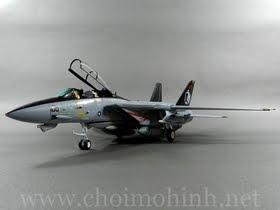 Máy bay mô hình tĩnh F-14A Tomcat US Navy Black Knights hiệu Witty Wings tỉ lệ 1:72