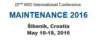 Congreso MAINTENANCE 2016 Sibenik, Croatia