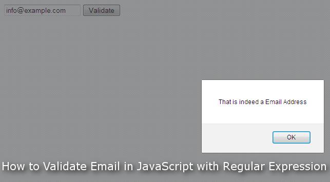 JavaScript Email Validate