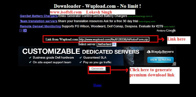 download unlimited from Wupload, premium account hack