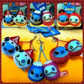 JAPAN DISNEY TOURIST GIFT STITCH + SCRUMP MASCOT