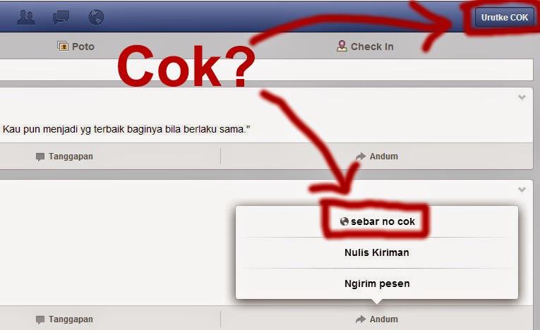 Terdapat Bahasa Jawa Cok di Facebook Bahasa Jawa.  Facebook Bahasa Jawa