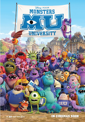 Monsters University poster with full cast.