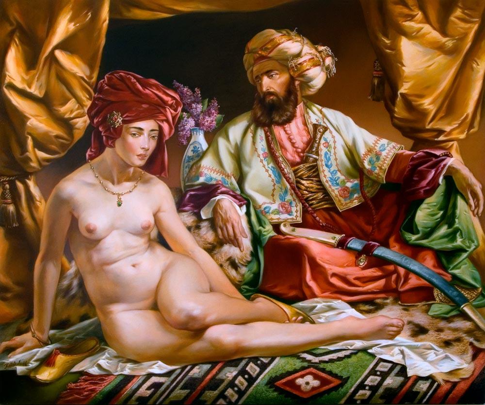 Порно арабском гареме спиной