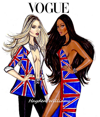 hayden williams fashion illustrator kate moss sketch naomi campbell sketch fashion drawing