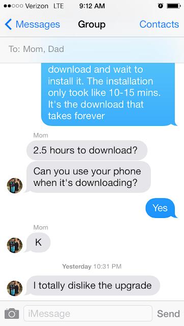 apple iOS iMessage text message screenshot