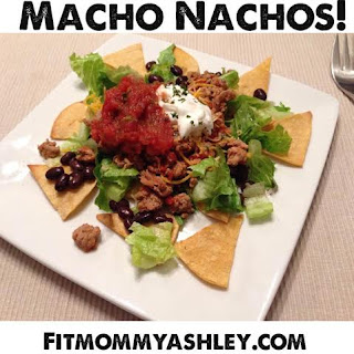 nachos, healthy, 21 day fix, turkey, clean eating, corn tortillas, salsa, mexican, taco tuesday, guilt free, black beans