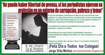 México celebra el 4 de eenro el día de los periodistas