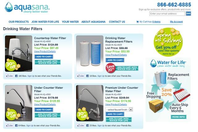 Aquasana Drinking Water Filters