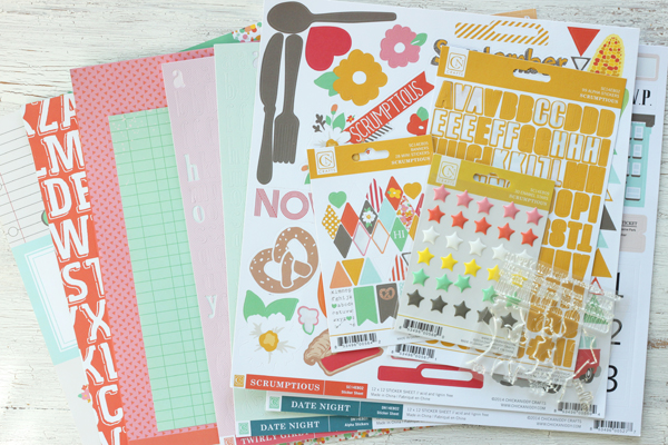 Meghann Andrew Chickaniddy Crafts Scrap Yourself Layout supplies