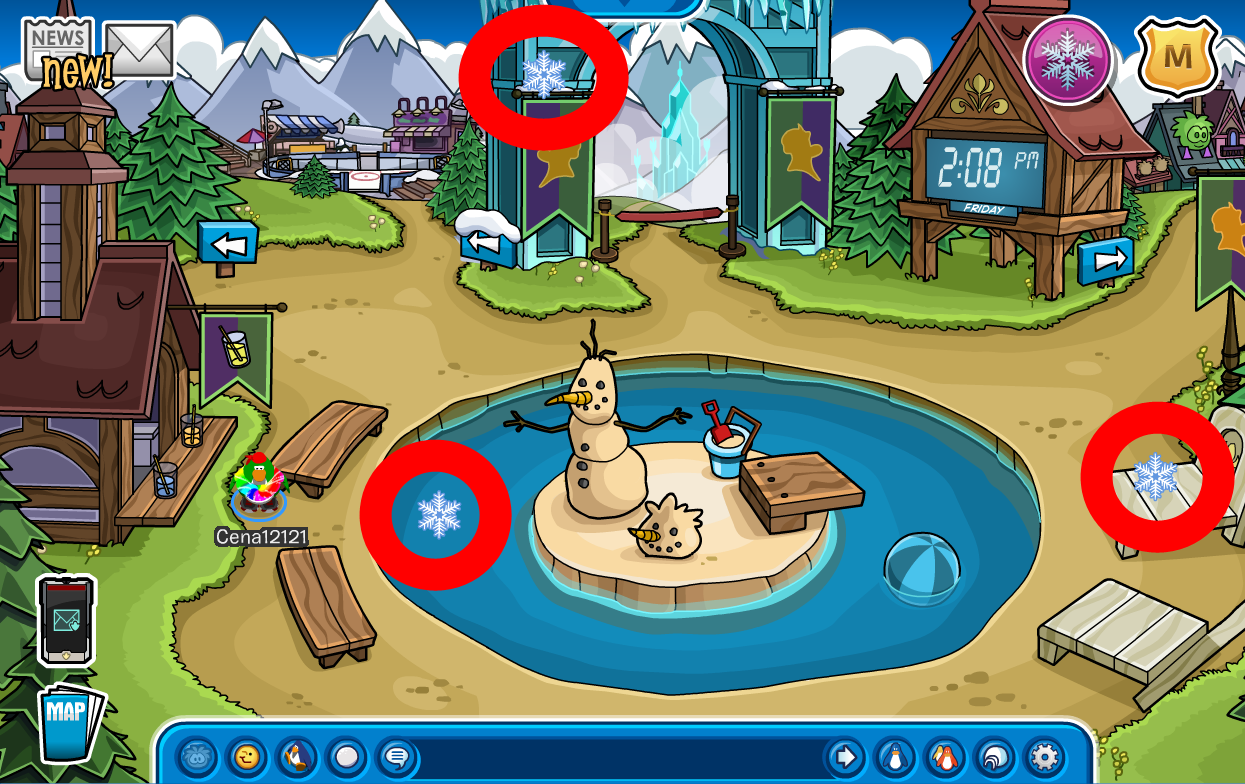 Club Penguin Frozen Fever Party 2015 Cheats