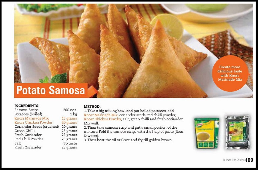 Delicious Patato Samosa Recipe In English