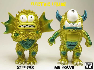 Electric Lemon M 5 Bravo & Stee-Gar Vinyl Figures by Jeff Lamm