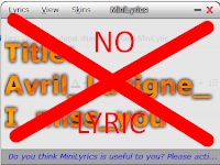Mengatasi Lirik lagu tidak ditemukan Pada MiniLyric