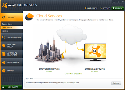 Avast Free Antivirus 7.0 - Cloud Services