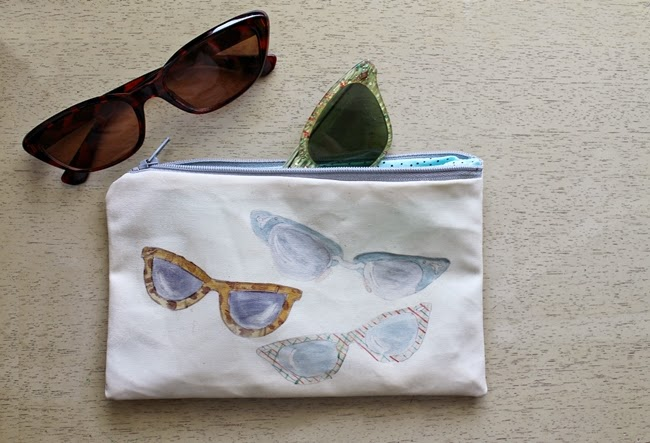 retro cat eye sunglasses bag from wacky tuna on etsy