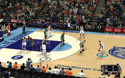 NBA 2K14 Charlotte Bobcats HD Court Mod