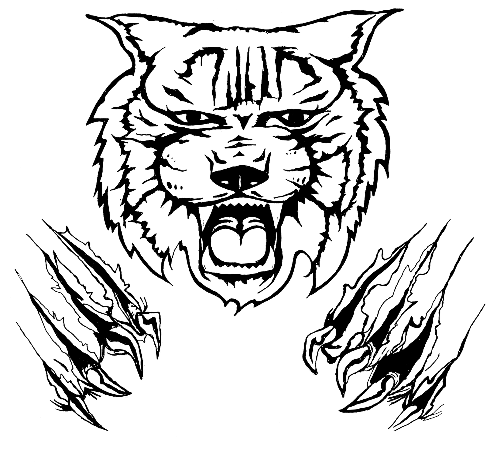 Wildcat Claw Logo http://artrageously.blogspot.com/2012/03/wildcat-shirt-design.html
