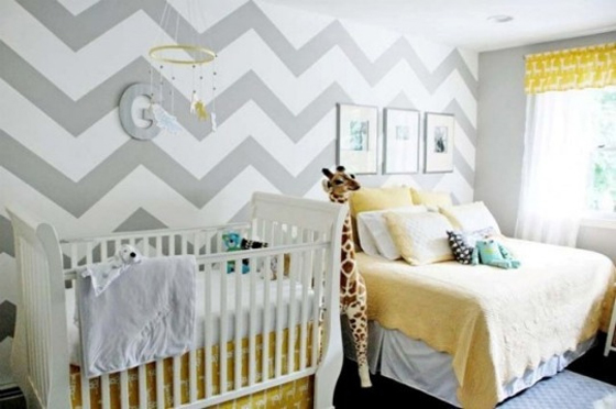Chevron Baby Room Wall Color Ideas