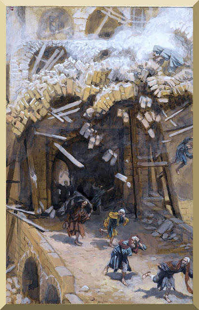 """""""The Tower of Siloam"""" -- by James Tissot (1886-1896)"""
