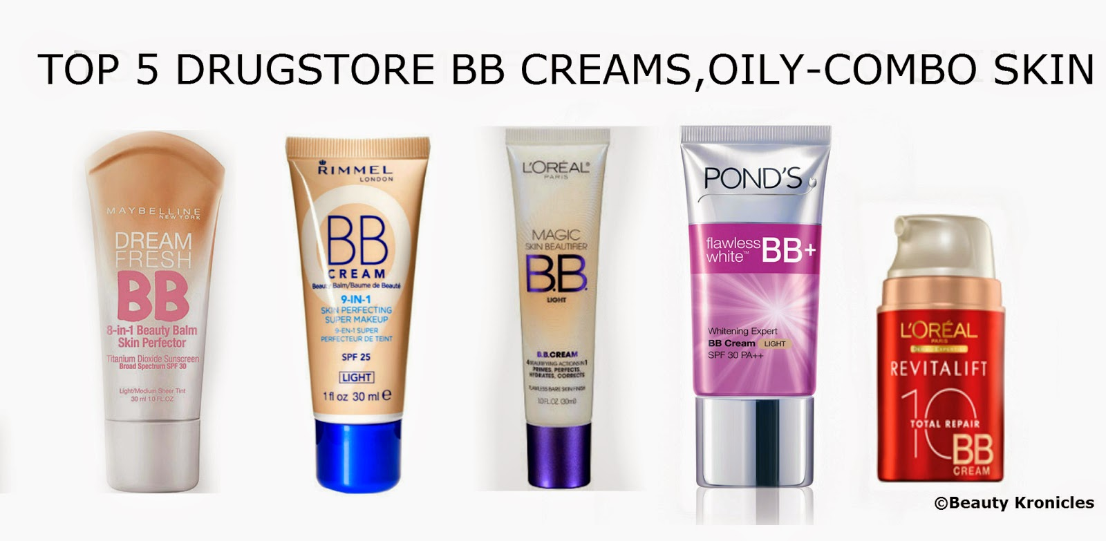 Beauty Chronicles: TOP 5 DRUGSTORE BB CREAMS FOR OILY ...