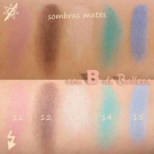 Swatches sombras mate