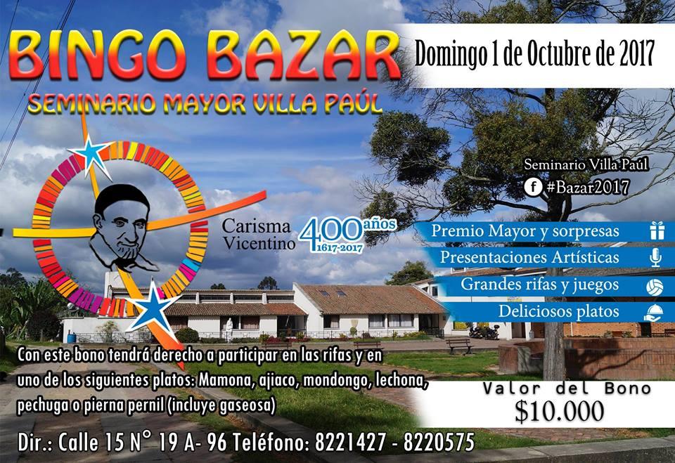 Participa en el BINGO BAZAR 2017- Funza Cundinamarca