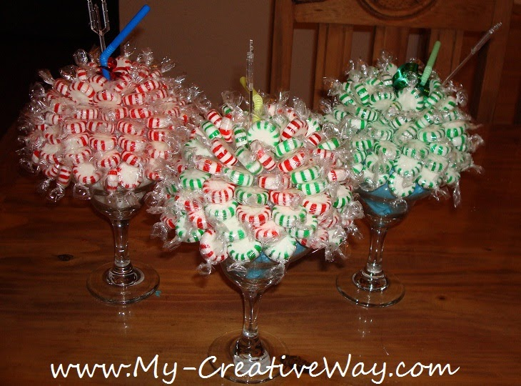 My creative way peppermint candy bouquets sweet friday