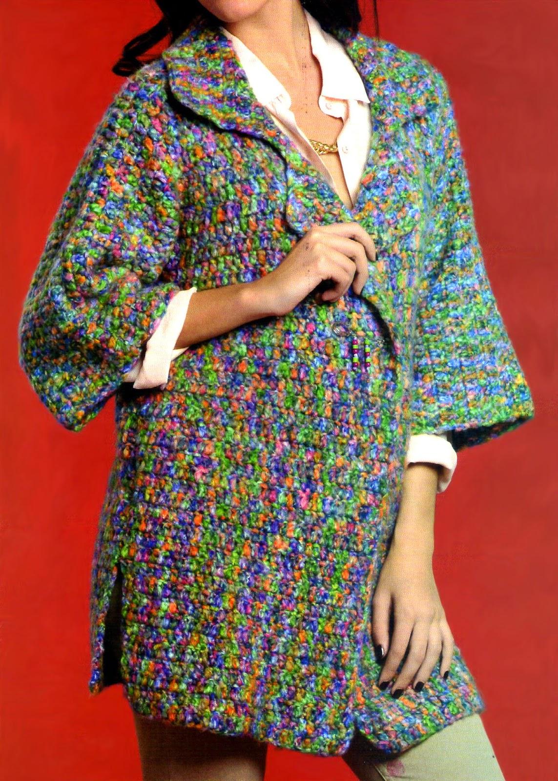 tejidos al crochet paso a paso con diagramas: kimono tejido a ...