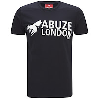Abuze London Men's Roman Sans T-Shirt - Black