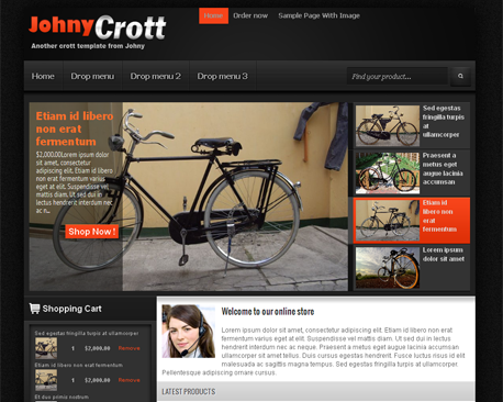Johny Crott Blogger Template