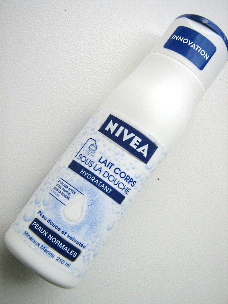 Lili na nivea lait sous la douche le lait pour le corps des flemmardes - Lait corps sous la douche ...