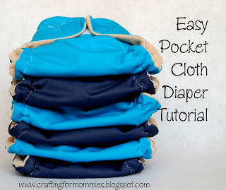easy pocketcloth diaper DIY