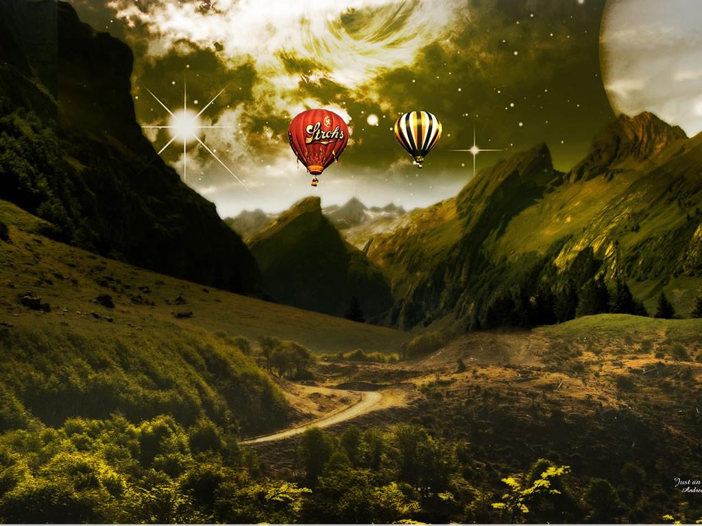 Ijonkbojats 3d fantasy landscape wallpaper 3d for 3d outdoor wallpaper