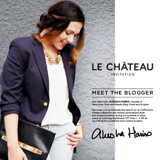Le Château Meet the Blogger event in Surrey Guildford Town Centre