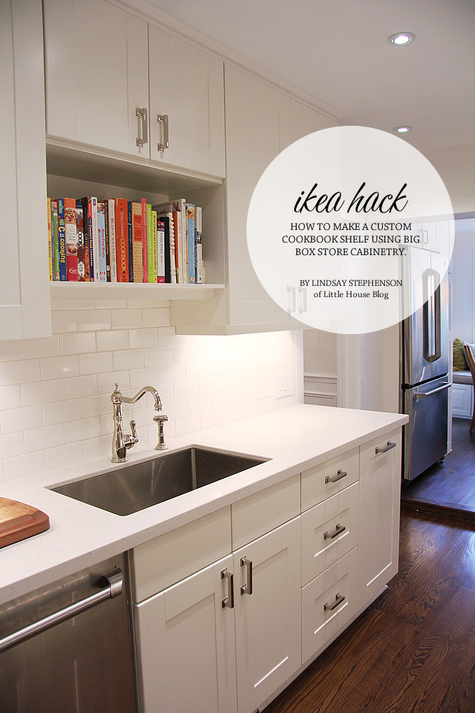 Little House Blog: Ikea Hack - How to make a cookbook shelf