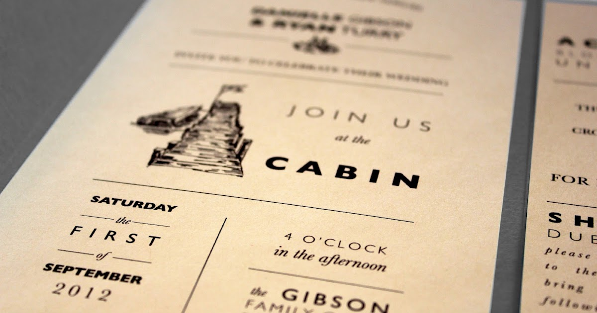 Jacki Moen Cabin Wedding Invitation