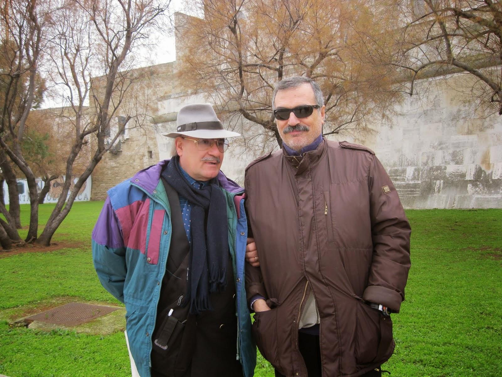 I due giornalisti presenti alla cerimonia di Croce Armena