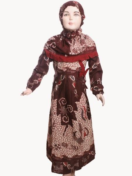 Model baju batik muslim putri modis