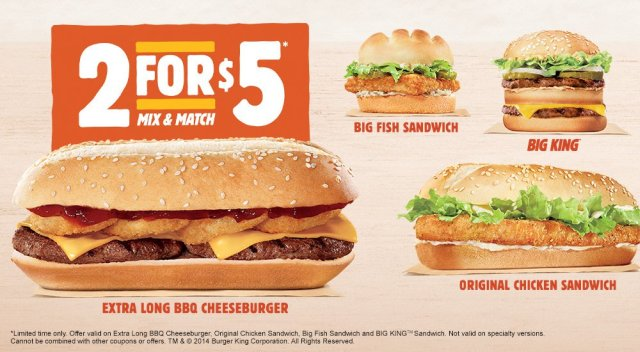 The Extra Long BBQ Cheeseburger Returns To Burger King Menu And Is Currently Available As One Of Selections For Their Two 5