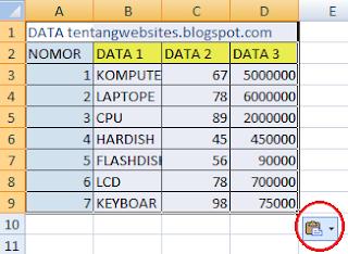 copy tabel excel agar tidak berubah