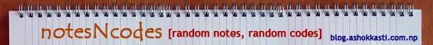 notesNcodes