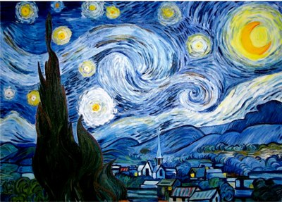 Maestra girasole ottobre 2012 for Dipinto di van gogh notte stellata