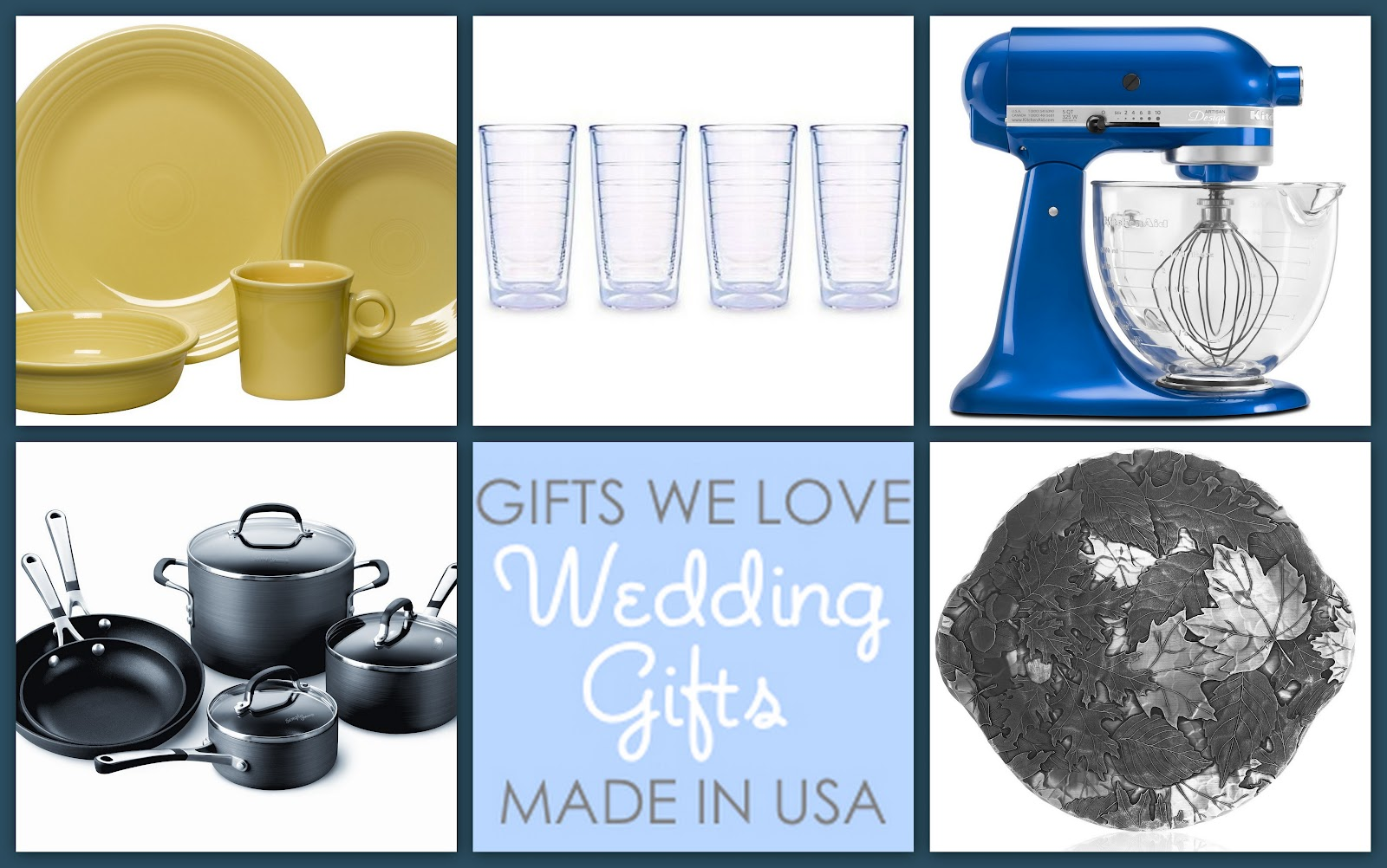 Wedding Gifts We Love, Made in the USA - USA Love List