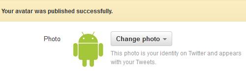 Sukses mengganti foto profil