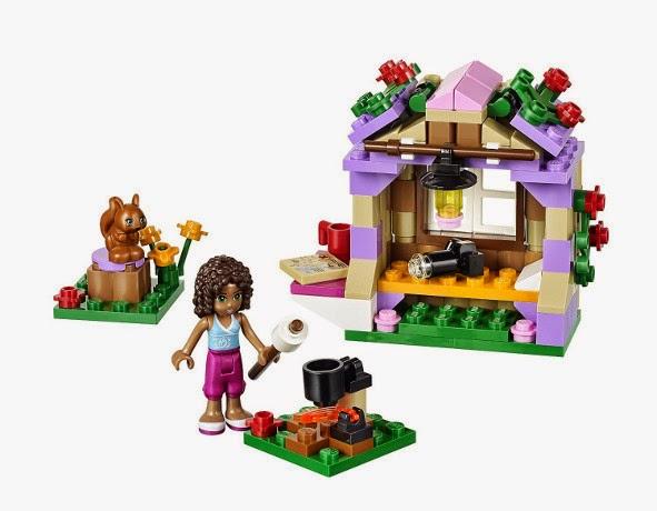 TOYS : JUGUETES - LEGO Friends  41031 Selva : La cabaña de montaña de Andrea  Andrea's Mountain Hut  Producto Oficial | Edad: 5-12 años