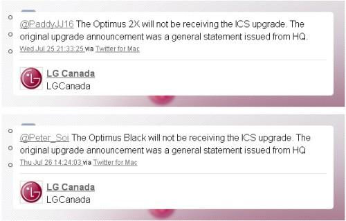 Niente android 4 ics per Optimus dual e Black