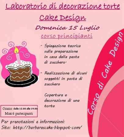 Corsi cake design roma nettuno latina torte decorate ricette for Corsi design roma